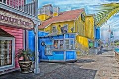Küstenlinien-Dorf Long Beach Kalifornien lizenzfreies stockbild