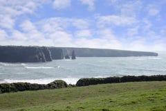 Küstenlinienfeld in der Grafschaft Kerry Irland Stockfotos