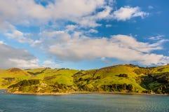 Küstenlinienlandschaft Region Neuseelands Otago szenische Stockbild