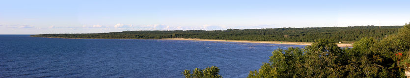 Küstenliniepanorama Stockbild