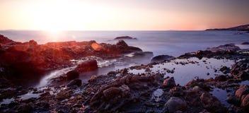 Küstenmagie mit seidigem macht Wellen glatt Lizenzfreies Stockbild