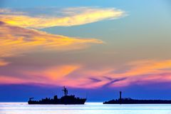 Küstenmeerblick auf dem Schwarzen Meer, Sochi, Russland lizenzfreie stockfotos