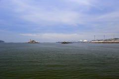 In Küstennähe vom Kraftwerk, zhangzhou Stadt stockbild