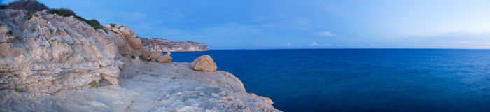 Küstenpanorama Stockbilder