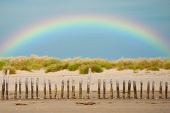 Küstenregenbogen Stockfotografie