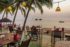 Küstenrestaurant in Vietnam Lizenzfreie Stockbilder