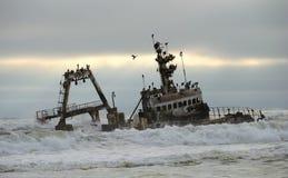 Küstenschiffbruch Stockbilder
