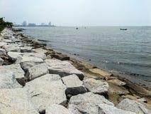 Küstensperre stockfoto