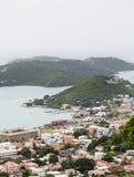 Küstenstadt auf St Thomas Stockbilder