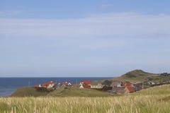 Küstenstadt in Dänemark Stockfoto