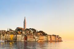 Küstenstadt von Rovinj, Istria, Kroatien. Stockbild