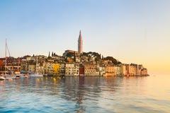 Küstenstadt von Rovinj, Istria, Kroatien. Lizenzfreies Stockbild