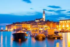 Küstenstadt von Rovinj, Istria, Kroatien Lizenzfreies Stockfoto