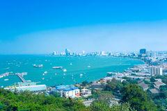 Küstenstadt von thailändischem Stockfotos