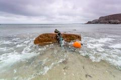 Küstenstandort um Trevaunance-Bucht in Cornwall England Großbritannien Stockbild