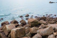 Küstensteine Stockbilder