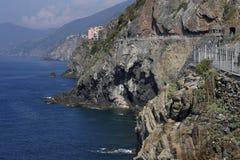 Küstenstraße in Italien lizenzfreies stockfoto