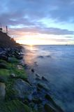 Küstenszene Stockbild