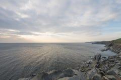 Küstenszene auf Cabot Trail in Nova Scotia Lizenzfreies Stockbild