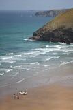 Küstenwache bei Mawgan Porth Stockfotografie