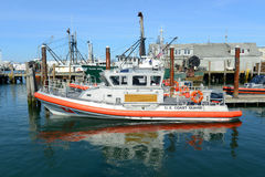 Küstenwache Boat, Narragansett, RI stockfoto
