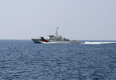 Küstenwache-Boot Stockfoto