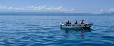 Küstenwache im Dienst Stockfotografie
