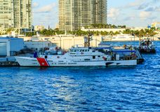 Küstenwache Ship in Biscayne Bay-2 Lizenzfreies Stockfoto