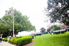 Küstenwache-Staffelung: Markierungsfahnen-Zeremonie Lizenzfreies Stockbild