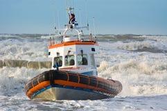 Küstenwache während des Sturms Stockfotografie