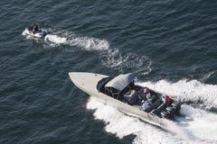 Küstenwachenboot in Acapulco-Bucht Lizenzfreie Stockfotos