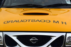 Küstenwachenfahrzeuge bei Bridlington Ost-Yorkshire Lizenzfreies Stockbild