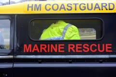 Küstenwachenfahrzeuge bei Bridlington Ost-Yorkshire Stockfotografie
