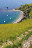 Küstenweg mit Ansicht zu mupe Bucht Stockbild