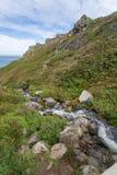 Küstenweg zwischen Kopf Zennor und der Knurrhähne Stockbilder