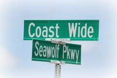 Küstenzeichen Stockfotografie
