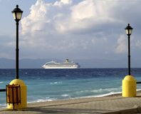 Küstepromenade, Rhodos Lizenzfreies Stockbild