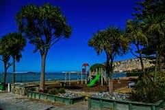 Küstespielplatz Stockfoto