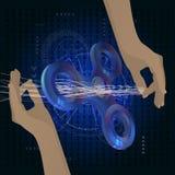 Kądziołek purpury Ręka skręta pojemność ilustracji