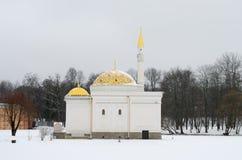 52 1850 kąpać się projektowali i monighetti pawilonu Petersburg Pushkin Russia selo st tsarskoye turkish Obrazy Stock