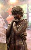 Kąpania piękna woodcarving Zdjęcia Royalty Free