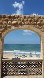 Kąpanie plaża Fotografia Stock