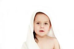kąpiel odizolowane mały dzieciak Zdjęcie Royalty Free