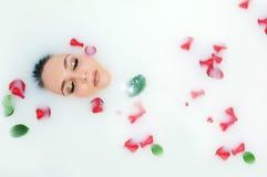 kąpielowa łgarska kobieta Zdjęcia Stock
