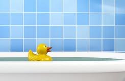Kąpielowa kaczka w skąpaniu Zdjęcia Stock