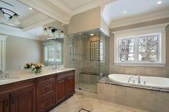 kąpielowa szkła mistrza prysznic fotografia royalty free