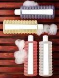 kąpielowe piankowe płukanki zdjęcia stock