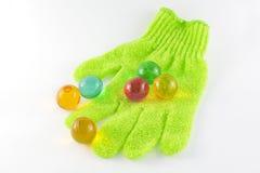 kąpielowe rękawiczkowe perły Zdjęcie Stock