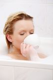 kąpielowego piękna target2169_0_ kobiety potomstwa Zdjęcia Stock