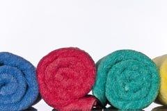 kąpielowi ręczniki zdjęcia stock